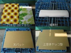 大判ポスターやパネルを安価にピッタリ梱包する方法