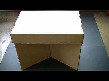 ダンボールで作ったテーブルです